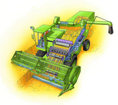 How Does A Combine Harvester Work