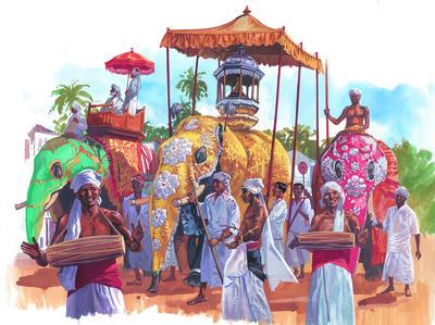 Elephant Parade in Sri Lanka
