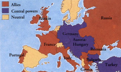 Spain, Switzerland, Albania, the Netherlands, Denmark, Norway, and Sweden all remained neutral in the First World War.