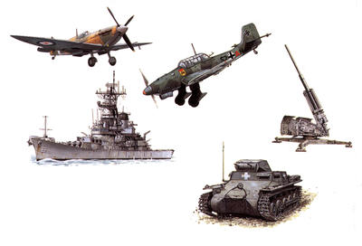 What weapons were used in the Second World War?